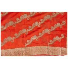 Vintage Indian Sari Coral Color New Idea for Unusual Curtains Also