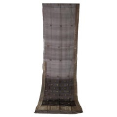 Vintage Indian Sari Dark Brown Color, Unusual Curtains or an Evening Dress