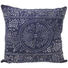 Vintage Indigo Batik Style Pillow