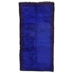 Vintage Indigo Beni M'Guild Moroccan Rug, Berber Blue Moroccan Carpet