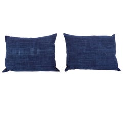 Vintage Indigo Pilow / Cushion Covers Fashioned from a Cloth from Mali Africa