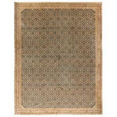 Vintage Indo Tabriz Rug, circa 1920, 12'8 x 15'8