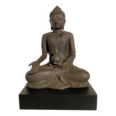 Vintage Indonesian Cast Metal Medicine Buddha, circa 1970s, Bali