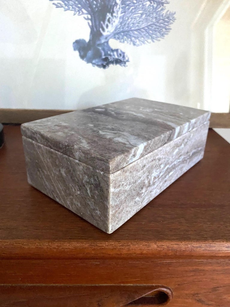 Vintage Indonesian Lidded Box in Exotic Marble, c. 2005 For Sale 6