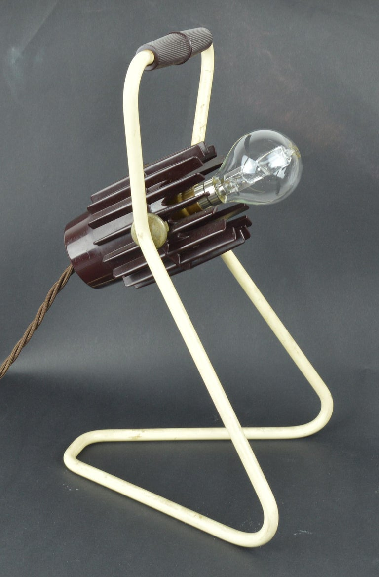 Molded Vintage Industrial Adjustable Desk Lamp, Belgian, Mid-20th Century