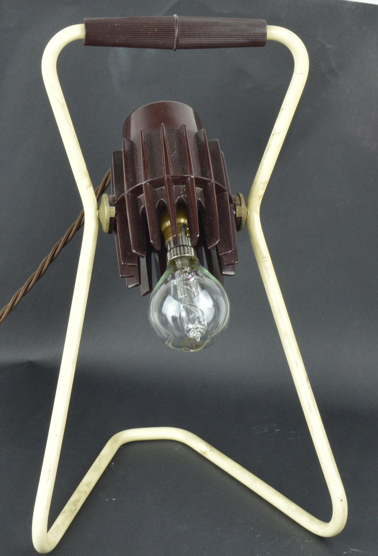 Vintage Industrial Adjustable Desk Lamp, Belgian, Mid-20th Century In Good Condition In St Annes, Lancashire