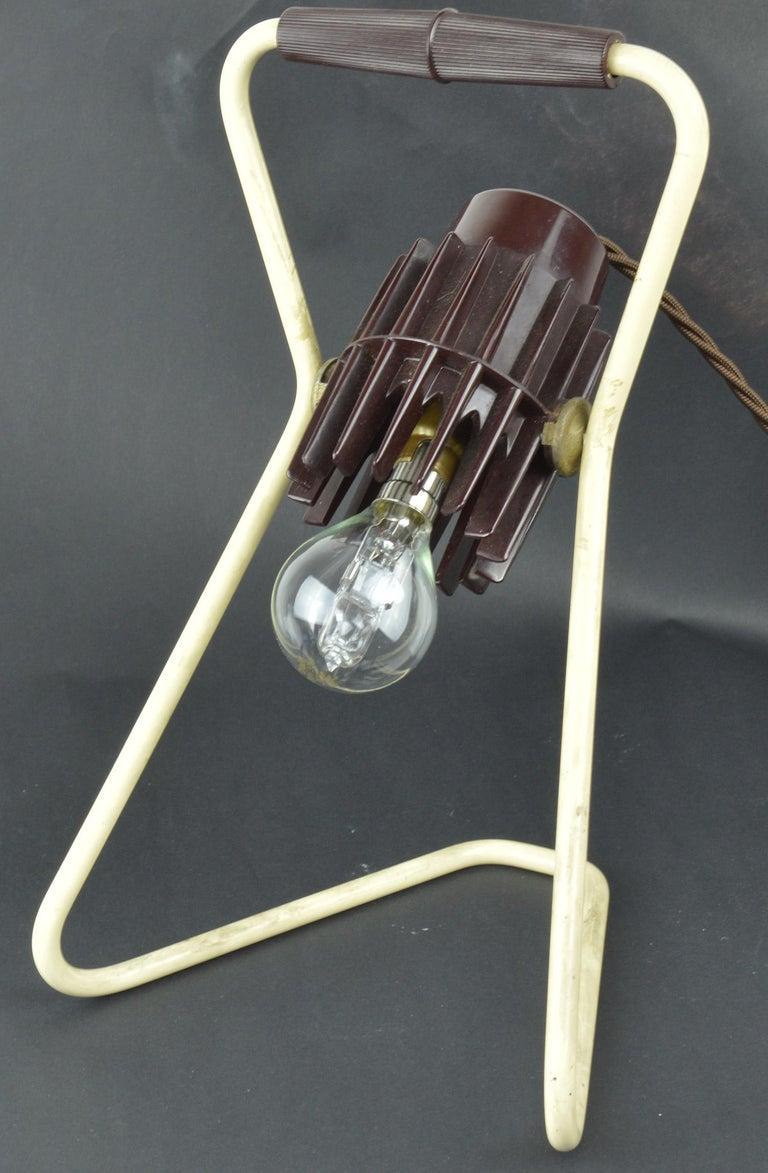 Vintage Industrial Adjustable Desk Lamp, Belgian, Mid-20th Century For Sale 1