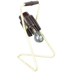 Vintage Industrial Adjustable Desk Lamp, Belgian, Mid-20th Century