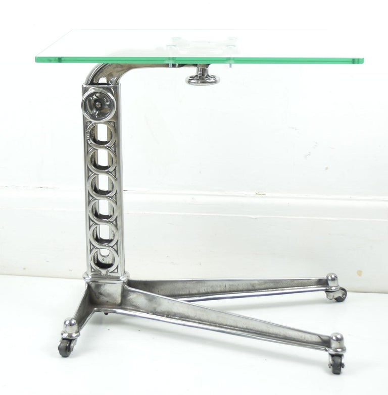 Vintage Industrial Adjustable High to Low Work Table, English, 1920s In Good Condition For Sale In St Annes, Lancashire