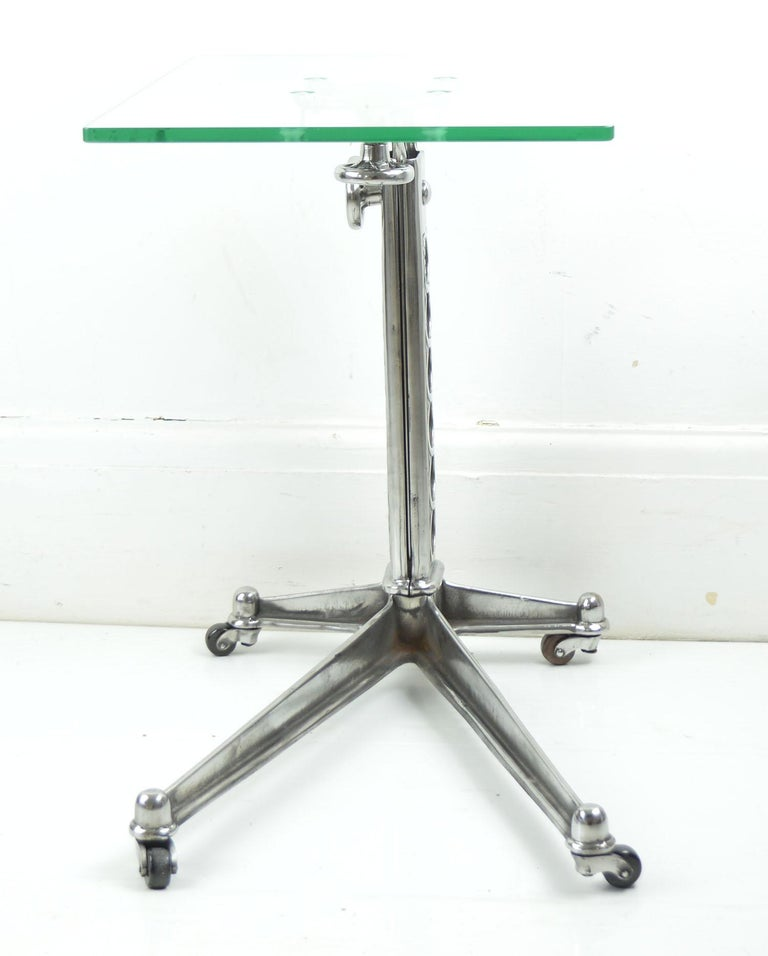 20th Century Vintage Industrial Adjustable High to Low Work Table, English, 1920s For Sale