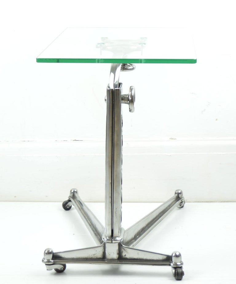 Steel Vintage Industrial Adjustable High to Low Work Table, English, 1920s For Sale