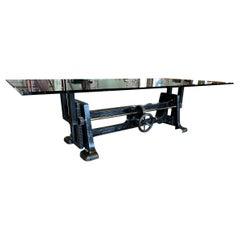 Vintage Industrial Adjustable Table