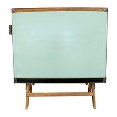 Vintage Industrial Adjustable Wood Drafting Table