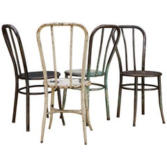 Vintage Industrial American Steel NYC Bar Chairs Bistro Boutique Asylum Shabby