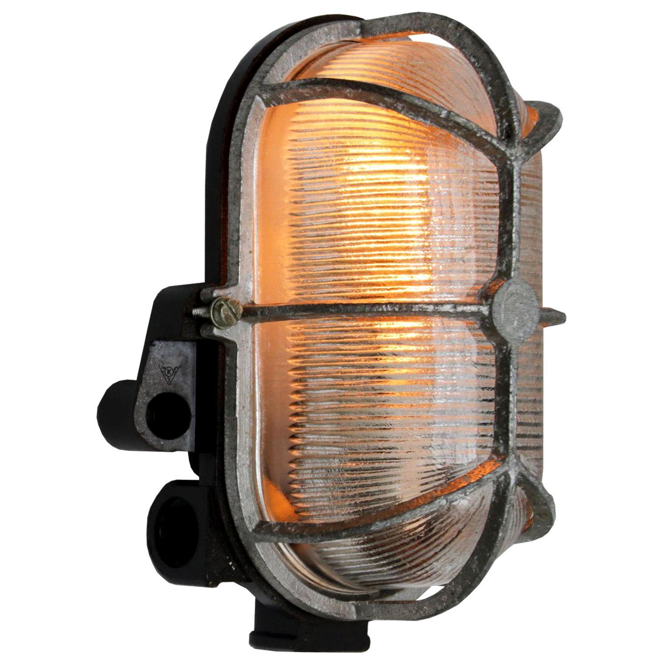 Vintage Industrial Bakelite Holophane Glass Wall Lights Scones