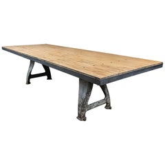 Vintage Industrial Base Bowling Alley Table
