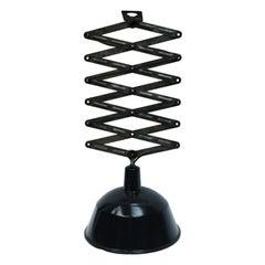 Vintage Industrial Black Anthracite Enamel Scissor Pendant Lights