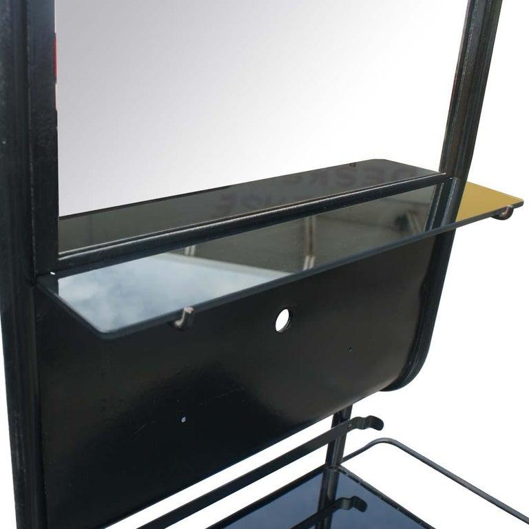 Vintage Industrial Black Steel Washstand  For Sale 2