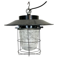 Vintage Industrial Cage Pendant Lamp, 1960s