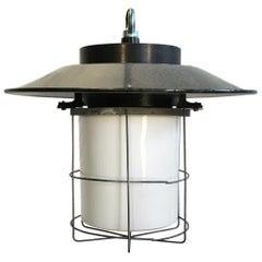 Vintage Industrial Cage Pendant Lamp, 1960s , Ten