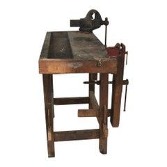 Vintage Industrial Carpenter Work Bench Reed MFG Co