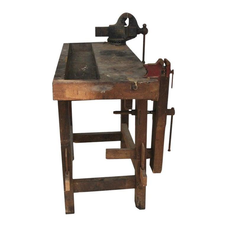 Super Vintage Industrial Carpenter Work Bench Reed Mfg Co Frankydiablos Diy Chair Ideas Frankydiabloscom