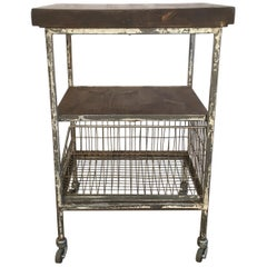 Vintage Industrial Cart With Shelves, 1960s
