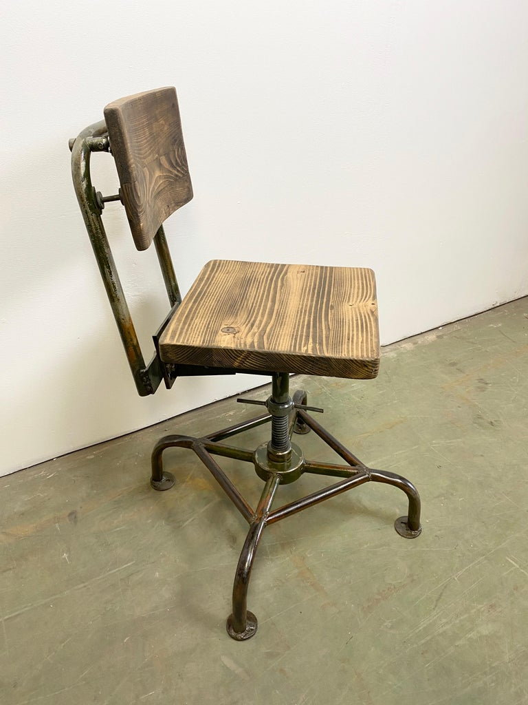 Czech Vintage Industrial Chair, 1950s For Sale