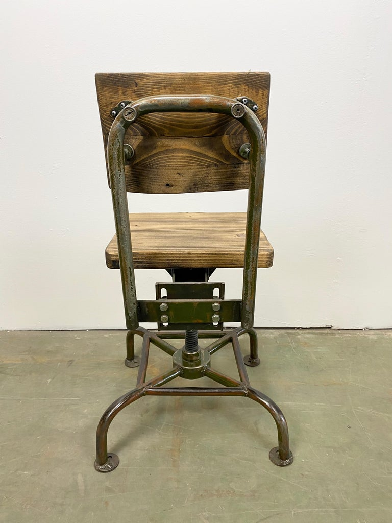 20th Century Vintage Industrial Chair, 1950s For Sale