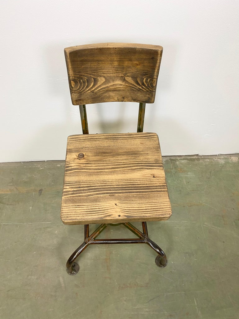 Vintage Industrial Chair, 1950s For Sale 3