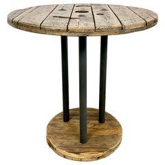 Vintage Industrial Circle Coffee Table, 1960s