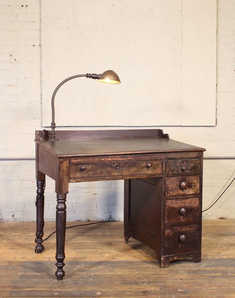Vintage Industrial Clerk S Desk Workbench With Adjustable
