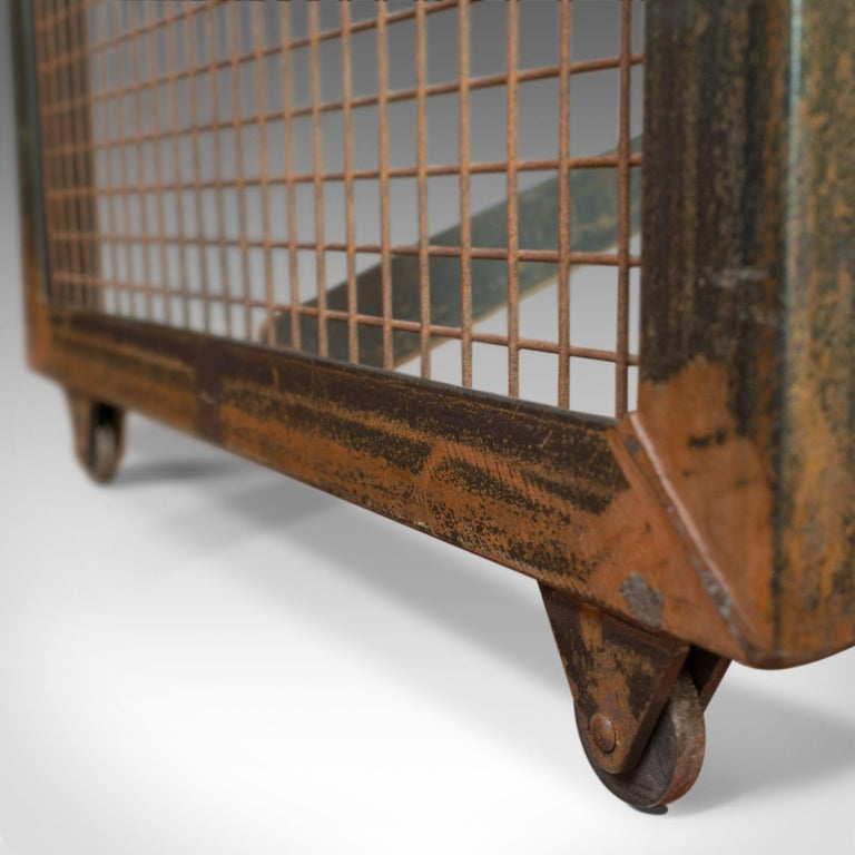 Vintage Industrial Coffee Table, English, Steel, Oak, 20th Century For Sale 5