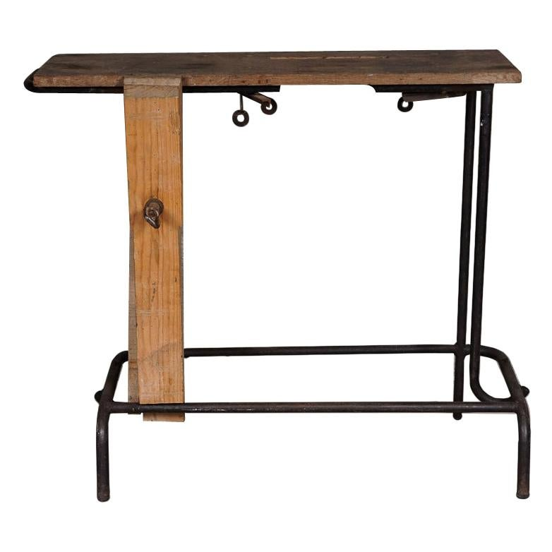 Vintage Industrial Console Table, France, 1940s