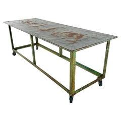 Vintage Industrial Display Table