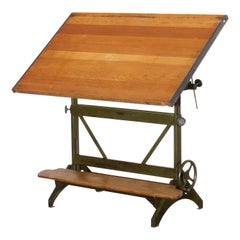 Vintage Industrial Hamilton Drafting Table