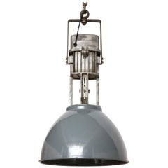 Vintage Industrial Enamel Shade Hanging Light