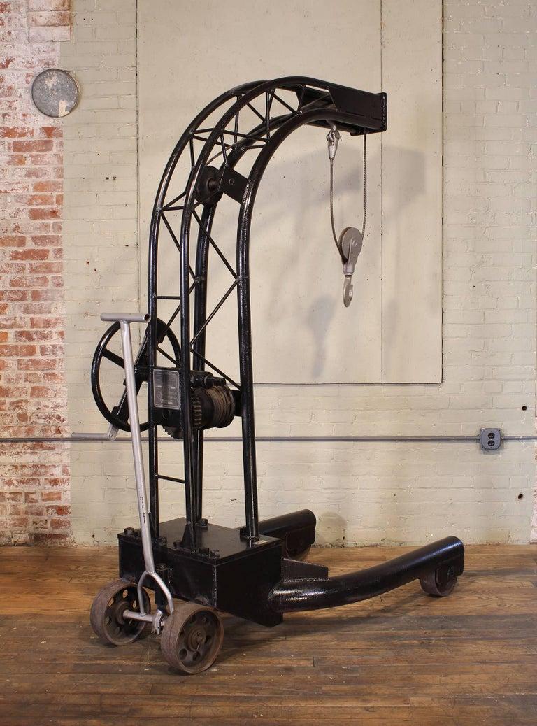 Vintage Industrial Engine Hoist Hanging Chair Frame For