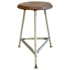 Vintage Industrial Factory Stool, 1960s