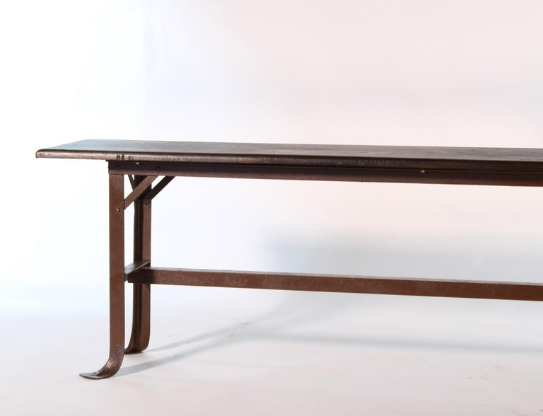 Vintage Industrial Factory Waiting Bench For Sale 4