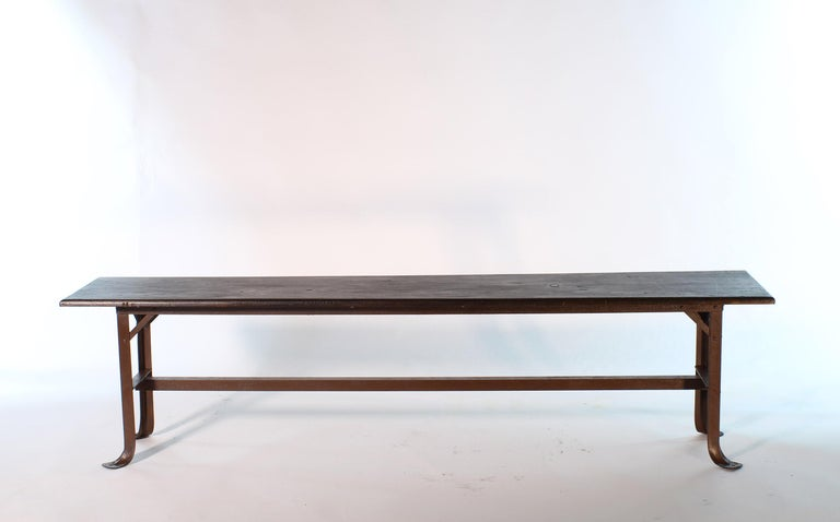 Vintage Industrial Factory Waiting Bench For Sale 7