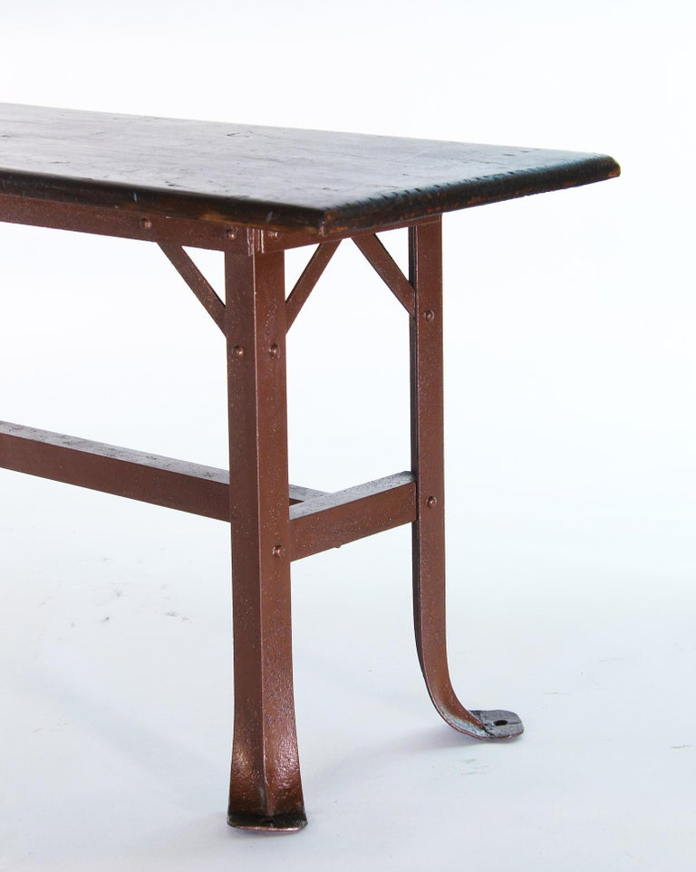 American Vintage Industrial Factory Waiting Bench For Sale