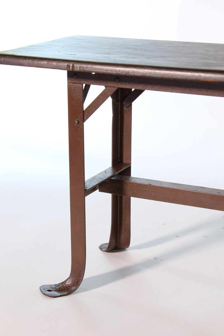 Vintage Industrial Factory Waiting Bench For Sale 3