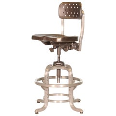 Vintage Industrial GoodForm Adjustable Drafting Stool