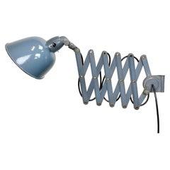 Vintage Industrial Grey Enamel Wall Lamp from Siemens, 1930s