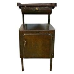 Vintage Industrial Hospital Nightstand Cabinet, 1950s