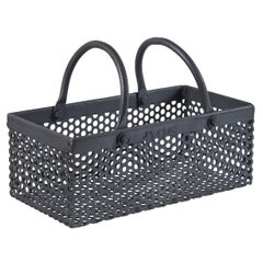 Vintage Industrial Iron Basket, 20th Century