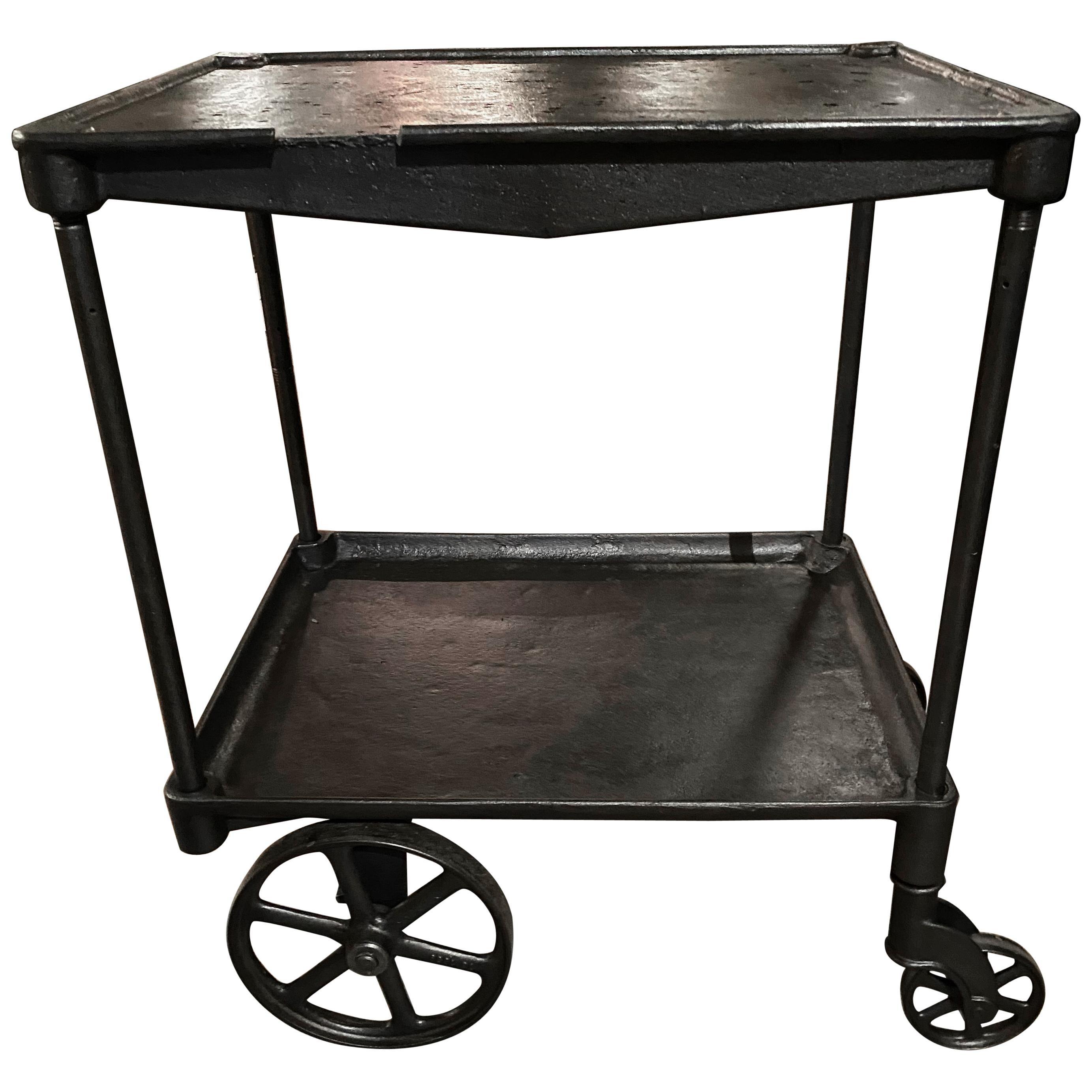 Vintage Industrial Machinist's Cart / Bar Cart