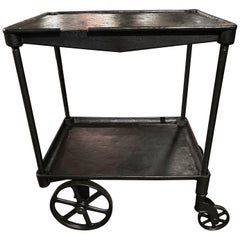 Vintage Industrial Machinist's Cart / Bar Cart