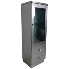 Vintage Industrial Metal Cabinet by Aloe Company